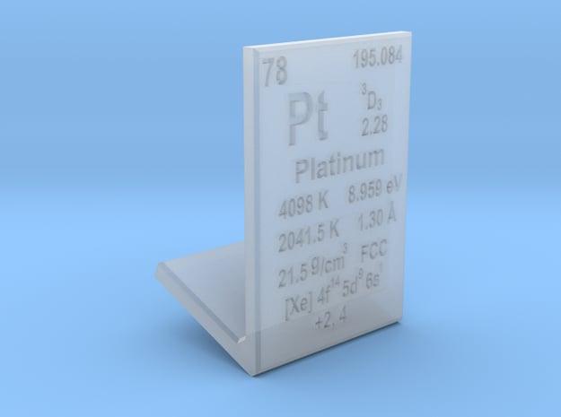 Platinum Element Stand in Smooth Fine Detail Plastic