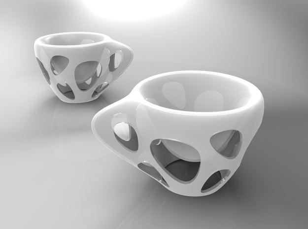 SUSPENDED COFFEE plastic in White Natural Versatile Plastic