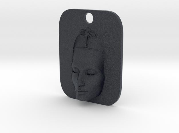 Nefertiti Face Keyfob in Black PA12