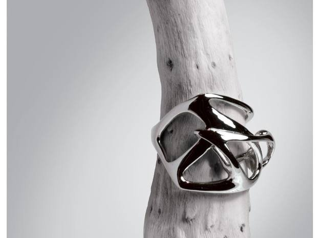 Calliope ring in Fine Detail Polished Silver: 3 / 44