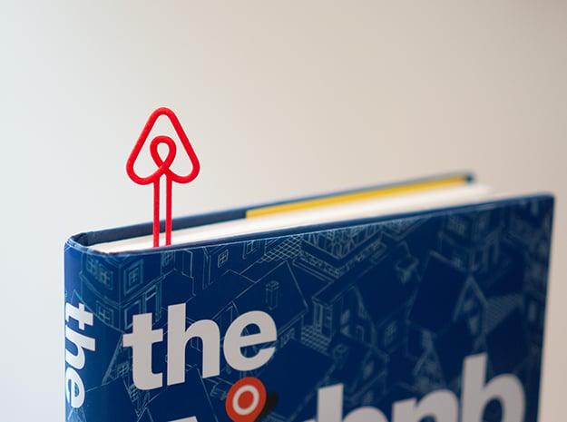 Airbnb Bookmark in Red Processed Versatile Plastic