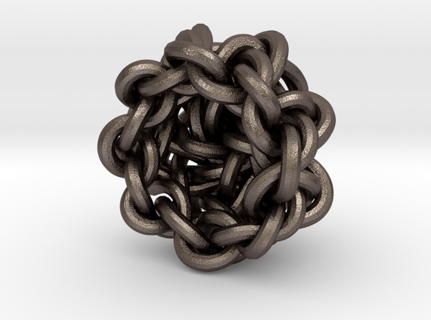 B&G Knot 13 in Polished Bronzed-Silver Steel