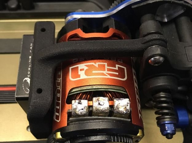 B6 B6.1 Laydown 30mm Front Fan Mount in Black Natural Versatile Plastic