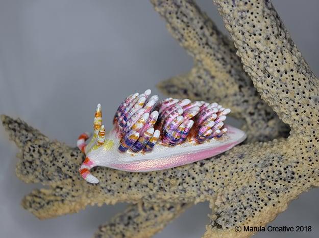 Diva the Nudibranch in White Processed Versatile Plastic