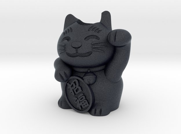 Lucky Cat Charm in Black PA12