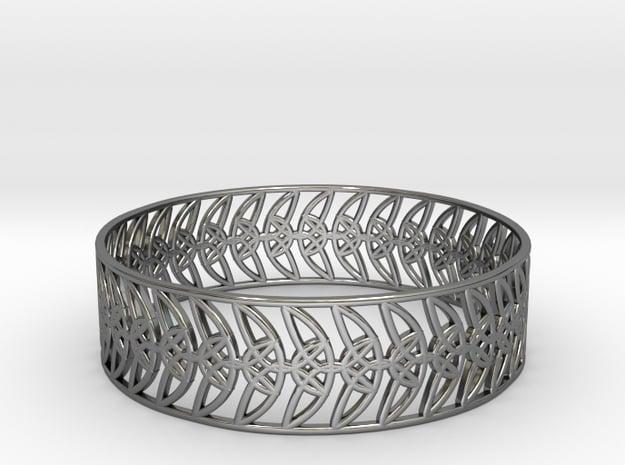 Enneper Curve Bracelet (004) in Fine Detail Polished Silver