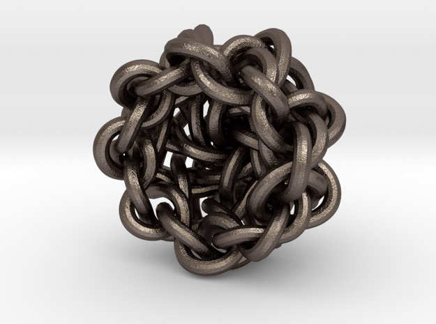 B&G Knot 16 in Polished Bronzed-Silver Steel