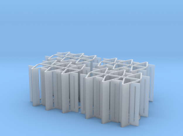 Bench type F (duble) - H0 ( 1:87 scale ) 24 Pcs se in Smooth Fine Detail Plastic