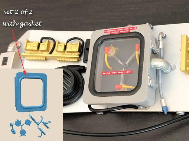 1:8 BTTF DeLorean Flux Capacitor set 2 of 2 wG in Smoothest Fine Detail Plastic