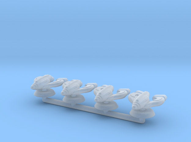 Omega Generic Small Warship Squadron in Smooth Fine Detail Plastic
