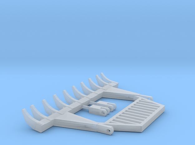 1:50 Scale 10ft pin on  rake with guard in Smooth Fine Detail Plastic
