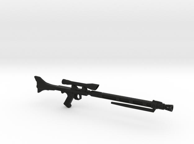 DC-15x Sniper Rifle in Black Natural Versatile Plastic