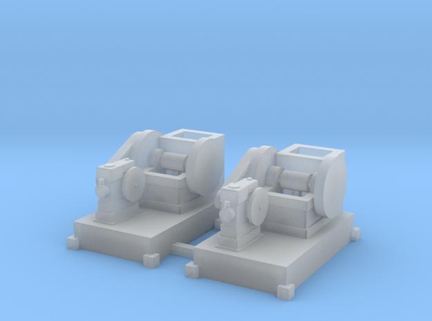 Steinbrecher mit Stationärmotor-Antrieb 2erSet TT  in Smooth Fine Detail Plastic