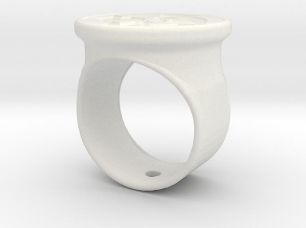 Celtic cross signet ring in White Natural Versatile Plastic