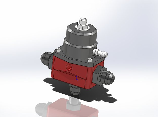 1/12 Scale Aeromotive A1000 Fuel Pressure Regulato in Smoothest Fine Detail Plastic