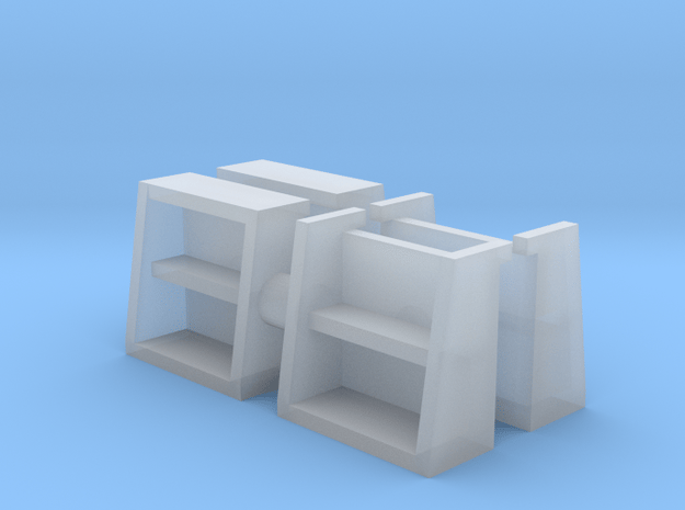 Cane Locomotive Steps (Cory Style) in Smooth Fine Detail Plastic