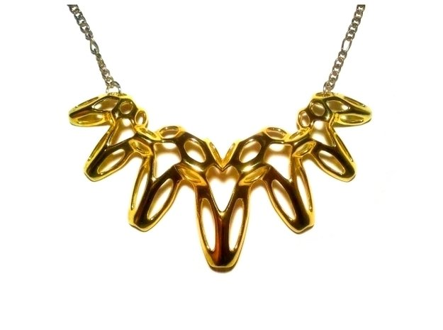 SharpSpikes Necklace in Polished Brass