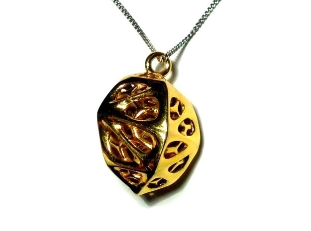 Goldmine Pendant in 14k Gold Plated Brass
