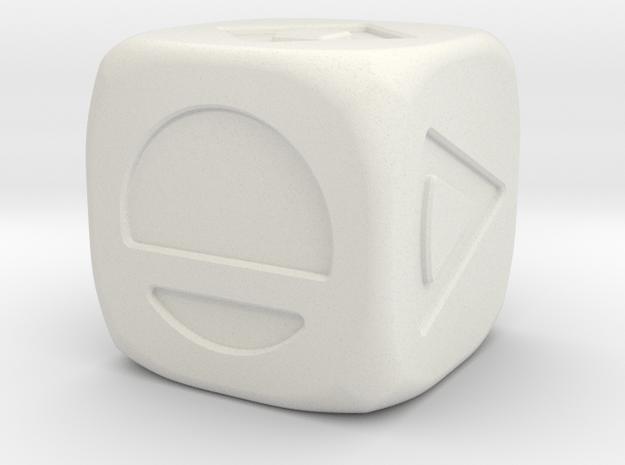 Star wars Sabacc Solo Dice Small 16mm in White Natural Versatile Plastic
