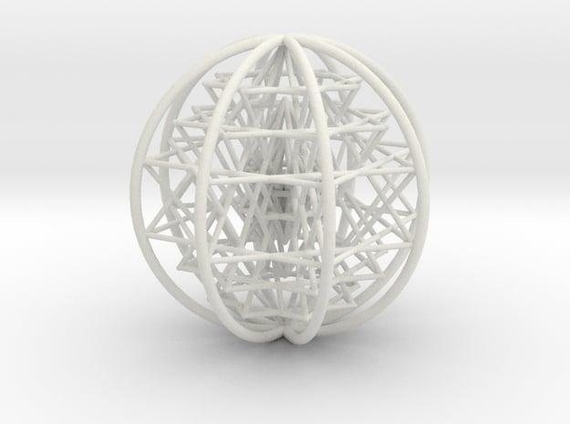 3D Sri Yantra 8 Sided Symmetrical Large