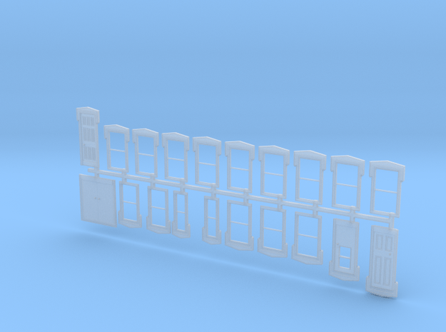 NYC Lake City Depot Doors and Windows - 1950s vers in Smooth Fine Detail Plastic