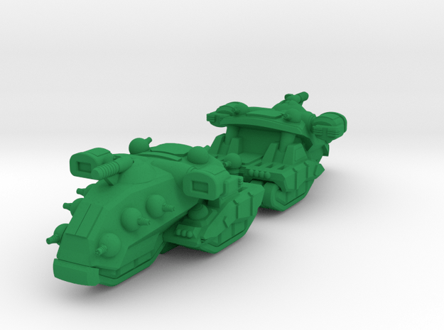 Destrier Heavy Tracked Armor - 3mm in Green Processed Versatile Plastic