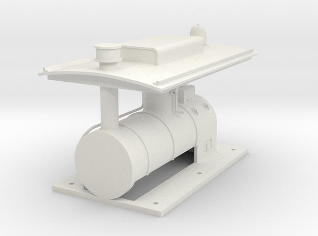 ZE 11-16 boiler + roof in White Natural Versatile Plastic