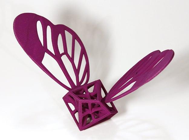 Lepi-Hedron in Purple Processed Versatile Plastic