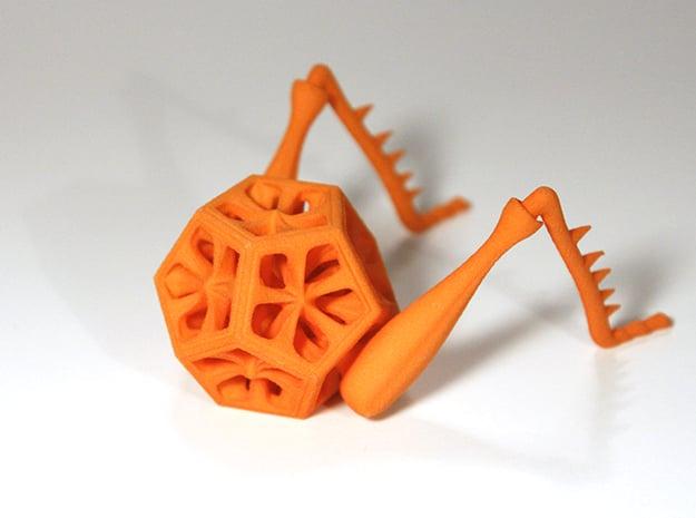 Dodeca-Hopper in Orange Processed Versatile Plastic
