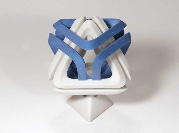 Di Tetrahedron in Full Color Sandstone
