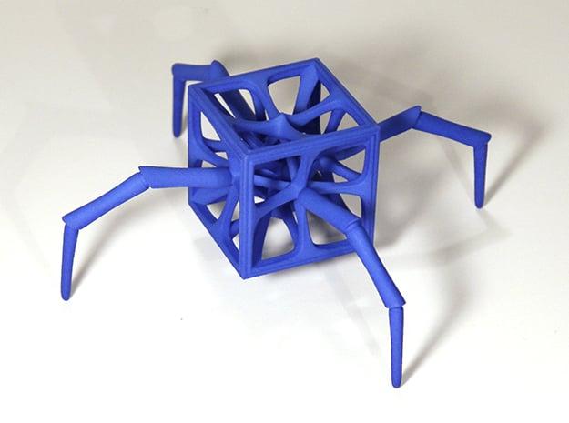 Arachno-Hedron in Blue Processed Versatile Plastic