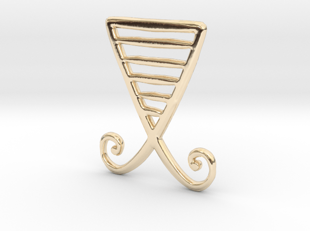 Alchemical Gold 01 (Loop Available) in 14k Gold Plated Brass: Small