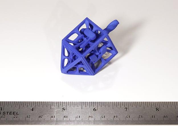 Hedron Dreidel in Blue Processed Versatile Plastic