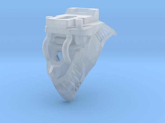 Wolf Head V2 for Armiger-scale Knight in Smooth Fine Detail Plastic