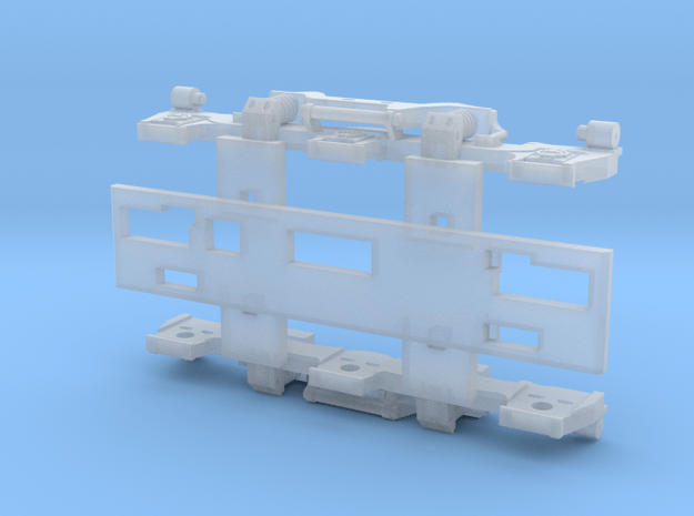 Alco Hi-Adhesion 3-Axle Truck (N) in Smoothest Fine Detail Plastic