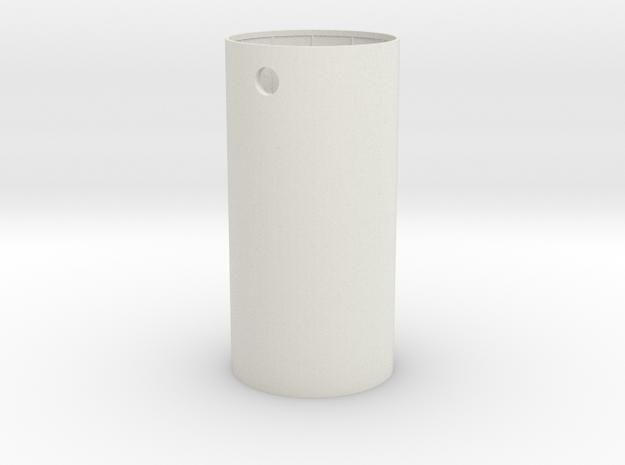 Small Tank Body in White Natural Versatile Plastic