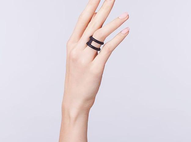 Luna ring  in Black Natural Versatile Plastic