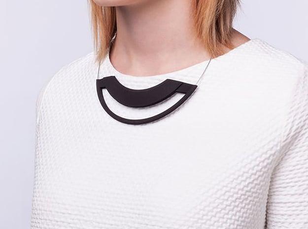 eclipse necklace in Black Natural Versatile Plastic