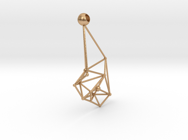 Space earrings in Natural Bronze