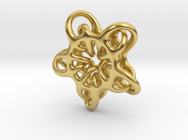 Star Abstract in Polished Brass: Small