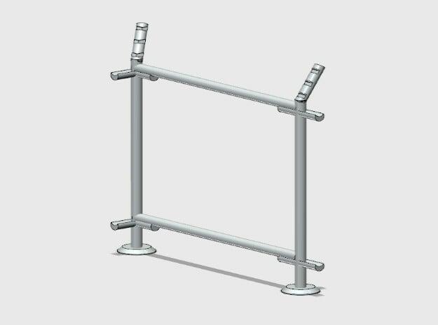 10' Fence Frame- 90 deg L/Out in White Natural Versatile Plastic: 1:87 - HO