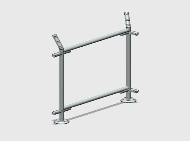 10' Fence Frame - 90 deg R/Out in White Natural Versatile Plastic: 1:87 - HO