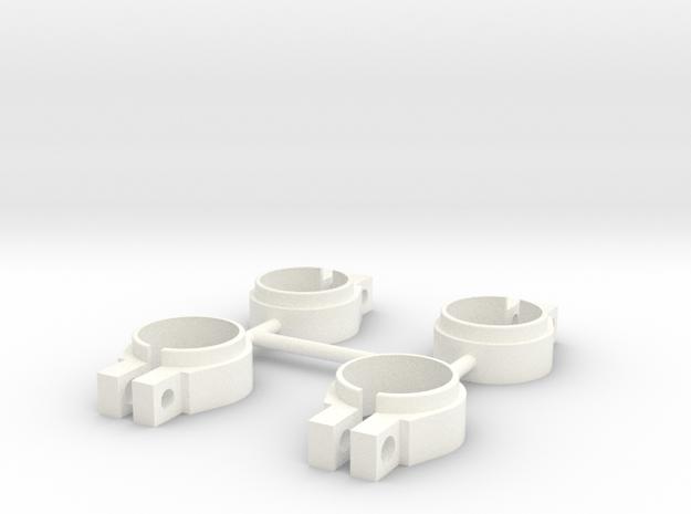 ASC6474 - White Shock Clamps in White Processed Versatile Plastic