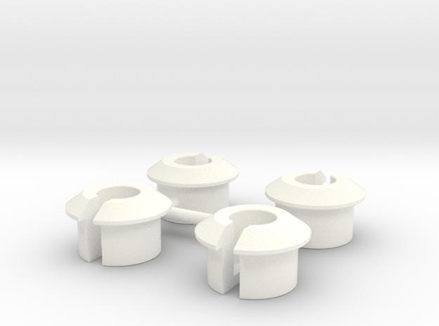 ASC6474 - White Shock Cups in White Processed Versatile Plastic