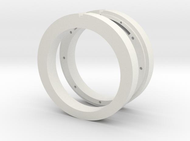NFC ready cross ring in White Natural Versatile Plastic
