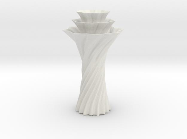 Vase 1236 in White Natural Versatile Plastic