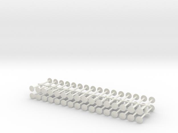 64 standard buffer heads in White Natural Versatile Plastic