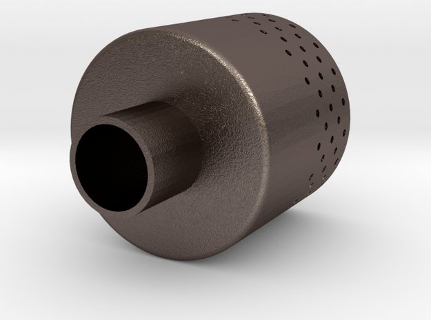 MSR Dragonfly Stove Silencer / Muffler in Polished Bronzed-Silver Steel