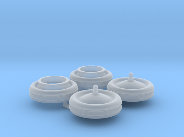 119 cylinder covers in Smooth Fine Detail Plastic