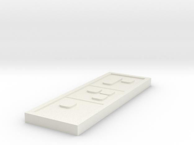 Star wars Sabacc Solo Segmented Chip Credit in White Natural Versatile Plastic